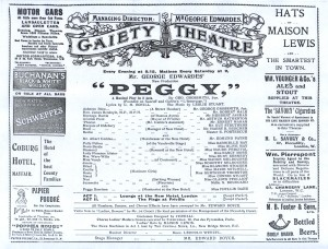 Peggy - Programme - 1911