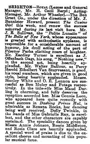 Brighton - Casino Girl - 31 July 1902