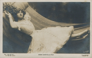 "Gabrielle Ray as ""Susan"" in ""Lady Madcap"" 1905 (J. Beagles 729 M)"