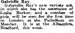The Palladium - The Stage - 18th March 1920