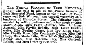 Salon of Fragrance and Fair Women - The Times - 28th March 1911