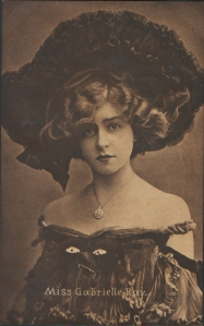 """Gabrielle Ray as """"Thisbe"""" in """"The Orchid"""" 1903 (Tuck 2841)"""