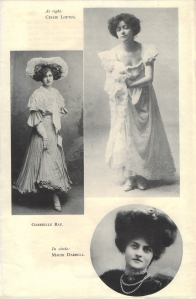 """Gabrielle Ray as """"Thisbe"""" in """"The Orchid"""" 1903"""