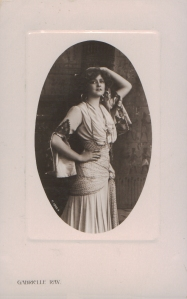 """Gabrielle Ray as """"Frou Frou"""" in """"The Merry Widow"""" 1907 (Rotary P.1908.A)"""