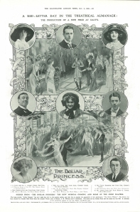 Gabrielle Ray - The Dollar Princess - The Illustrated London News - 2nd October1909