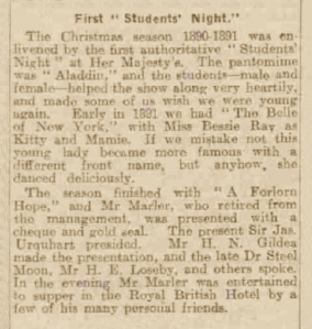Bessie Ray - The Belle of New York - Dundee Courier - Saturday 10th January 1920