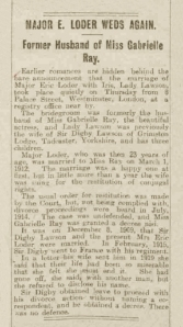 Eric Loder - The Evening Telegraph - 24th May 1920