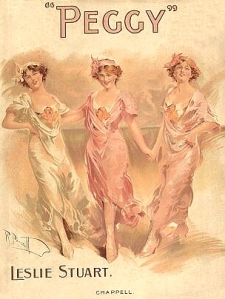 Sheet music cover - Peggy - 1911