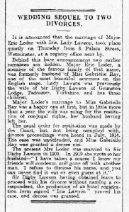 Eric Loder - The Aberdeen Daily Journal - 25th May 1920