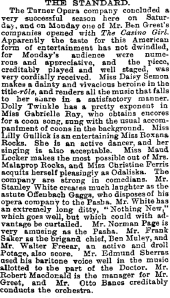 The Casino Girl - The Strand - The Stage - 19th March 1903