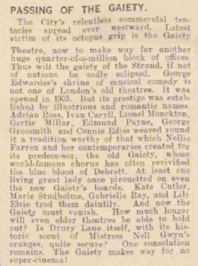 The Gaiety Theatre - Devon and Exeter Gazette - 14th April 1939