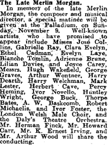 The Palladium - The Stage - 30th October 1924