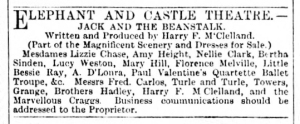 Bessie Ray - Jack and the Beanstalk -The Era - Saturday 20th January 1894
