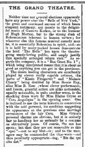 Bessie Ray - The Belle of New York -Luton Times and Advertiser - Friday 12 October 1900