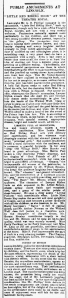 Bessie Ray - Little Red Riding Hood - Lincolnshire Echo - Tuesday 12th February 1895