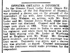 Eric Loder - The Derby Daily Telegraph - Saturday 27th March 1909