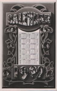 Gabrielle Ray (Rotary XS 256 A) 1907 Calendar