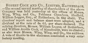 William Austin Cook - Sheffield Daily Telegraph - Thursday 12 August 1875