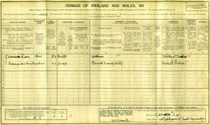 1911 Census - Gabrielle Ray