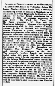 William Austin Cook - Aberdeen Journal - Friday 29 November 1889