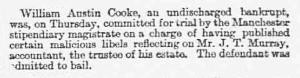 William Austin Cook - Birmingham Daily Post - Saturday 11 May 1889
