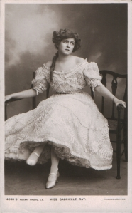 "Gabrielle Ray as ""Lady Dorothy Congress"" in ""The Little Cherub"" 1906 (Rotary 4038 B)"