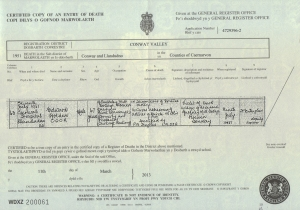 Edward Holden Cook - Death Certificate - 1951
