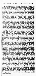 William Austin Cook - The Manchester Weekly Times - 13 February 1891