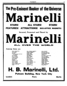 Marinelli - Variety - July 1913