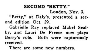Betty - Variety November 1915
