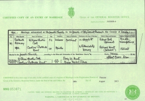 William Austin Cook - Marriage Certificate - 16th February 1901