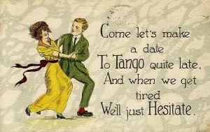 Tango Postcard - 1920