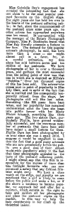 Gabrielle Ray - The Evening Post - Thursday 28th March 1912