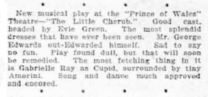 Gabrielle Ray - The Little Cherub - Evening News (Sidney, NSW) 24 February 1906