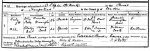 Gladys Cook - Marriage Register - 1910