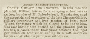 William Austin Cook - Manchester Courier and Lancashire General Advertiser - Saturday 25 April 1885