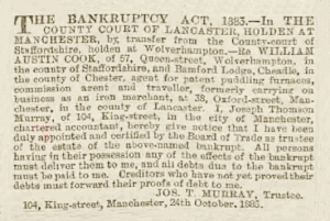 William Austin Cook - Manchester Courier and Lancashire General Advertiser - Tuesday 27 October 1885