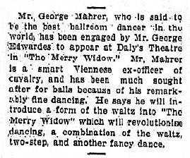 The Merry Widow - The Daily News (Perth,) Saturdat 20th February 1909