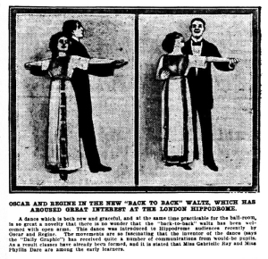 Back to back waltz - The World's News (Sydney, NSW) - Saturday 9th December 1911