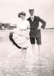 Miss Ray with Lily Elsie and Roy Sambourne at Borgor Regis, Whitsun1906