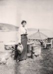Miss Ray on holiday with Ror Sambourne, Babbacombe,1915
