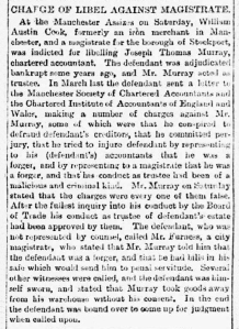 William Austin Cook - Sheffield Evening Telegraph - Monday 20 May 1889