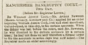 William Austin Cook - Manchester Evening News - Thursday 14 January 1886