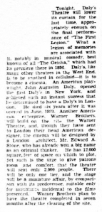 Daly's Theatre - The Advertiser (Adelaide) - Saturday 16th october 1937