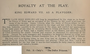 The Dollar Princess - The Stage Year Book - 1911