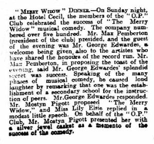 The Merry Widow - Stamford Mercury - Friday 05 February 1909