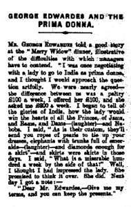 The Merry Widow - The New Zealand Herald - Saturday 20th March 1909
