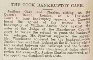 William Austin Cook - Manchester Courier and Lancashire General Advertiser - Saturday 30 May 1891
