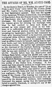 William Austin Cook - Manchester Times - Saturday 06 July 1889