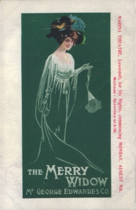 The Merry Widow - Marina Theatre, Lowestoft, Monday 9th August 1909